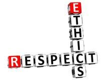 parole incrociate di rispetto di etica 3D Immagini Stock