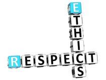 parole incrociate di rispetto di etica 3D Fotografia Stock