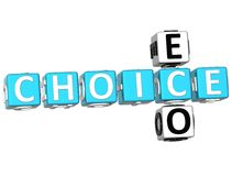 parole incrociate di scelta di 3D Eco Fotografia Stock