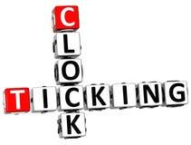 parole incrociate di ticchettio dell'orologio 3D Fotografia Stock Libera da Diritti