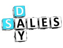 parole incrociate di vendite di giorno 3D illustrazione di stock