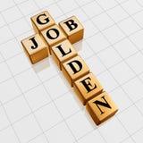 Parole incrociate dorate di job Immagini Stock Libere da Diritti