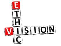 parole incrociate etiche di visione 3D Immagine Stock Libera da Diritti
