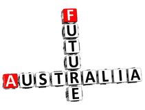 parole incrociate future di 3D Australia Immagine Stock