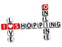 parole incrociate online di acquisto di amore di 3D I Immagine Stock Libera da Diritti