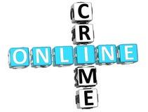 Parole incrociate online di crimine Fotografie Stock Libere da Diritti