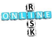 Parole incrociate online di rischio Fotografia Stock Libera da Diritti