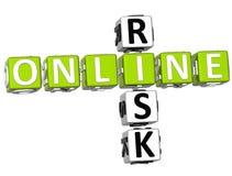 Parole incrociate online di rischio Immagine Stock