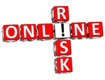 parole incrociate online di rischio 3D Fotografie Stock