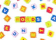 Parole nel puzzle fotografie stock