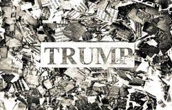 Parole politiche sul giornale immagine stock