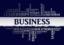 Parole relative di concetto di affari in nuvola dell'etichetta Vettore Immagine Stock