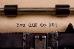 parole scritte su una macchina da scrivere d'annata Fotografie Stock Libere da Diritti