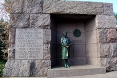 Parole significative di Eleanor Roosevelt, uno dei monumenti del ` s di Washington Dc, 2017 fotografia stock libera da diritti