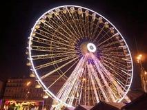 Paronamic Rad Marseilles genommen nachts Lizenzfreie Stockfotografie
