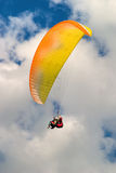 Paroplan. Flying in the sky at summer day stock photography