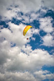 Paroplan. Flying in the sky at summer day stock photos