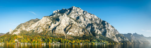 Parorama de la montaña de Traunstein Foto de archivo