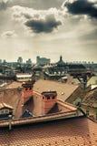 Parorama de Zagreb Fotografia de Stock Royalty Free