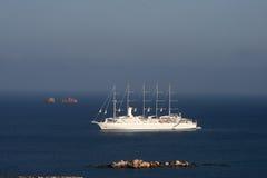 Paros żagla łódź Zdjęcia Royalty Free