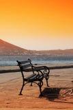 paros ławki Greece Obrazy Royalty Free
