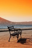 Paros Bench - Greece Royalty Free Stock Images