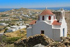 Paros Church. Old church on Paris Island in Greece with typical buildings Stock Images