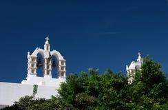 Paros, Grèce, belltower avec des cloches Photos libres de droits