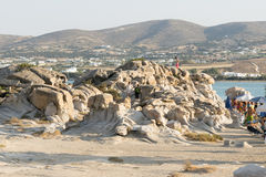 Paros, Greece, 06 August 2015. Kolymbithres beach landscape at Paros island in Greece. royalty free stock photography