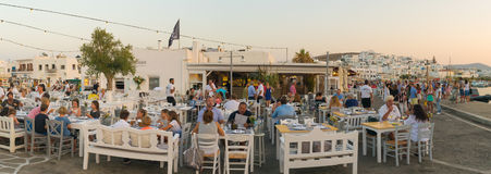 Paros, Greece 5 August 2016. Restaurants are ready to welcome tourists and local people at Paros island in Greece. Stock Photography