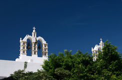 Paros, Greece, belltower with bells royalty free stock photos