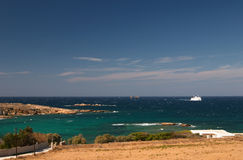 Paros, Greece, seaview. Cyclades, Paros island, Greece, seaview, green water Stock Photography