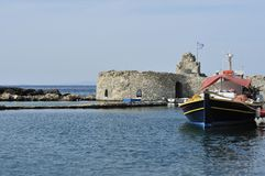 Paros harbour Royalty Free Stock Images