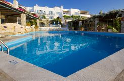 Paros Hotel Pool Royalty Free Stock Photo