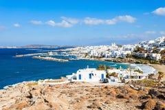Paros-Inselvogelperspektive stockbild