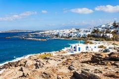 Paros island aerial view royalty free stock photo