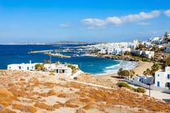 Paros island aerial view stock photography