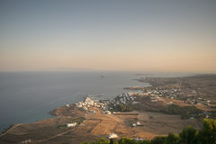 Paros island in Greece. View from top of a high mountain. Royalty Free Stock Photo