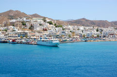 Paros island harbour view royalty free stock photo