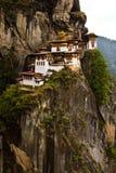 Paros kloster för rede för Taktsang 'tigrar', Paro, Bhutan Arkivfoto