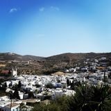 Paros. Lefkes village Royalty Free Stock Images