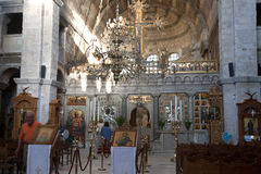 Paros -  Panagia Ekatontapyliani church interior,  Royalty Free Stock Photography