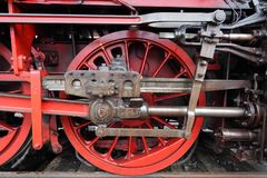 Parostatku lokomotoryczny ko?o zdjęcie royalty free