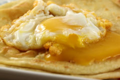 Parotta with poached egg Royalty Free Stock Photos