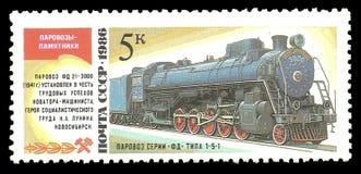 Parowa lokomotywa FD Novosibirsk Fotografia Stock