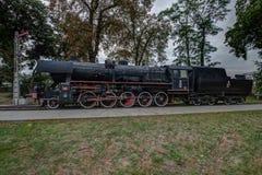 Parowa lokomotywa, Jablonowo Pomorskie, pomorzanka Voi zdjęcie stock
