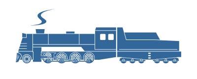 Parowa lokomotywa z ofertą ilustracja wektor