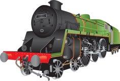 Parowa Pasażerska lokomotywa Zdjęcie Stock