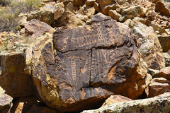 Parowan Gap petroglyphs Royaltyfria Foton