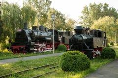 Parowe lokomotywy muzealne zdjęcia stock